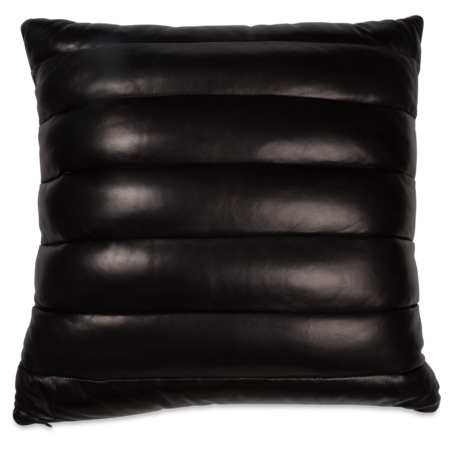 Leather Channel Pillow