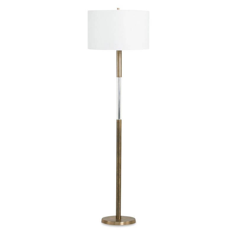 Crystal Rod Floor Light Brass
