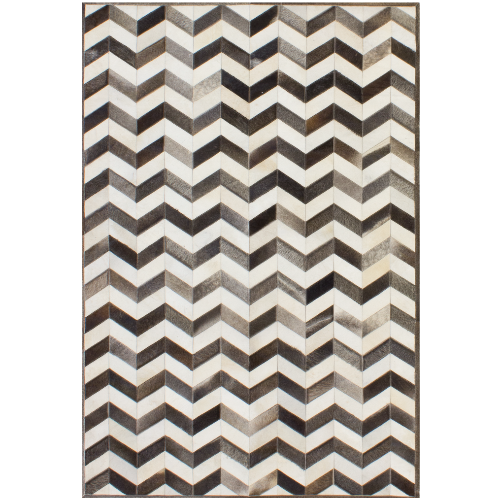 Chevron Charcoal/Ivory