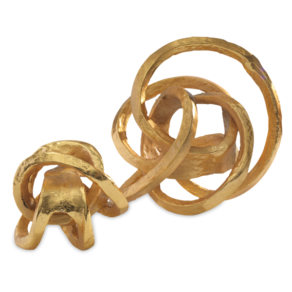 Metal Knot Object Gold