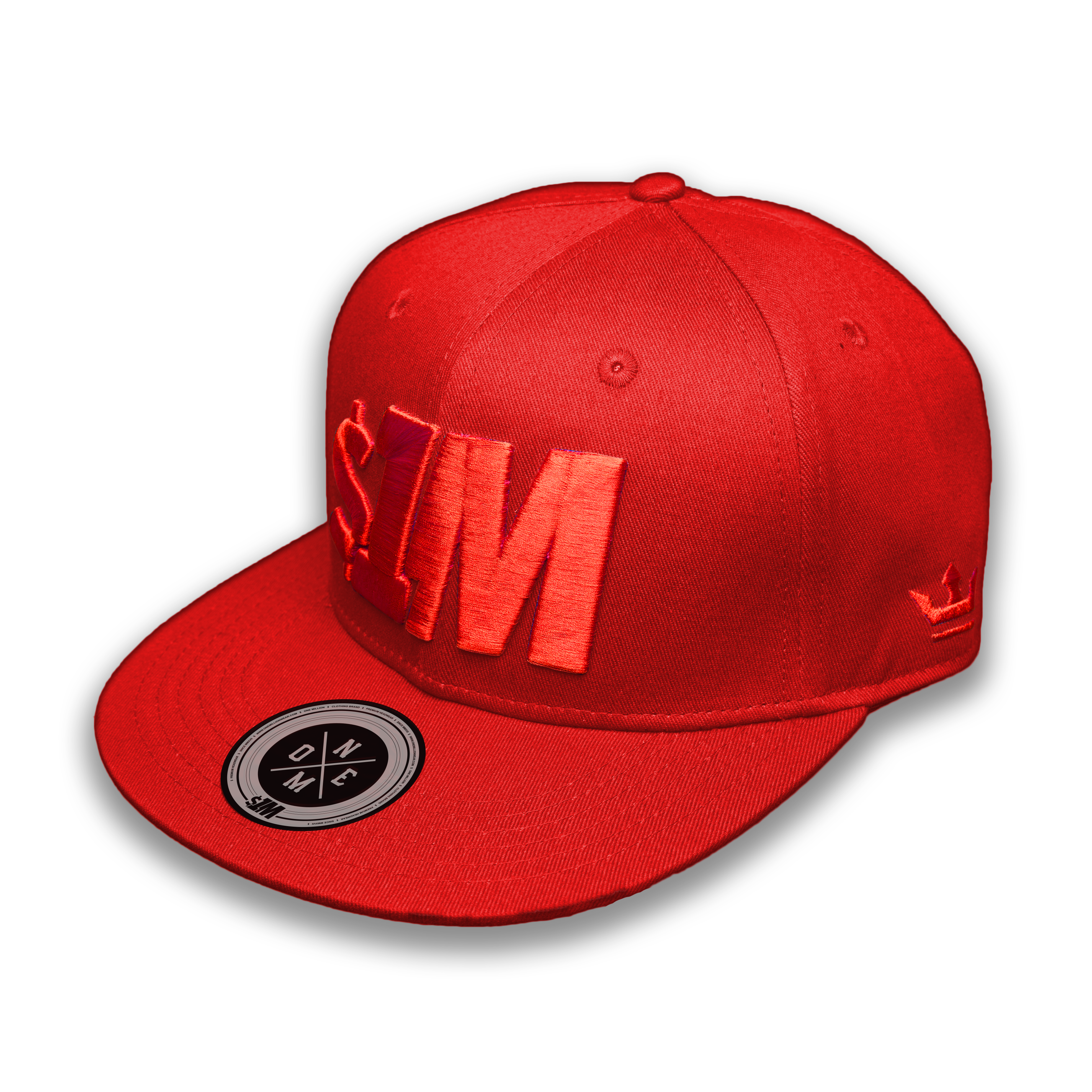 Gorra $1M Auténtica Red/Red - 1M Clothing Co.