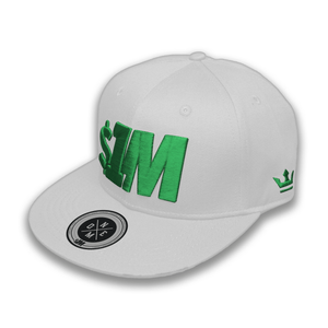 Gorra $1M Auténtica White/Green - 1M Clothing Co.