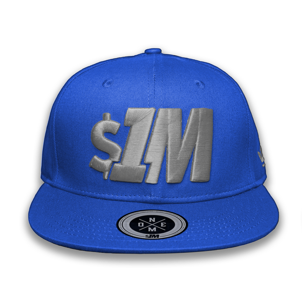 Gorra $1M Auténtica Blue/Grey - 1M Clothing Co.