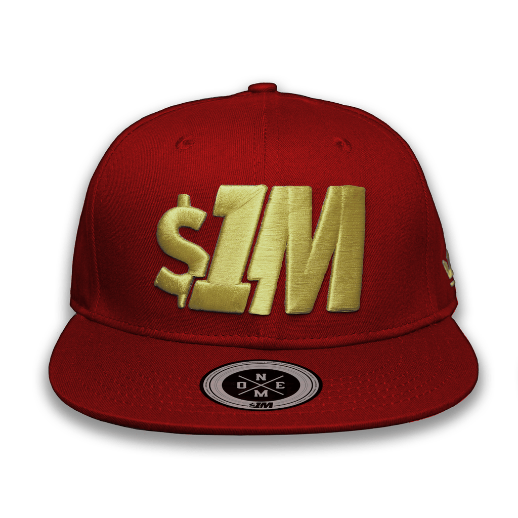 Gorra $1M Auténtica Burgundy/Gold - 1M Clothing Co.