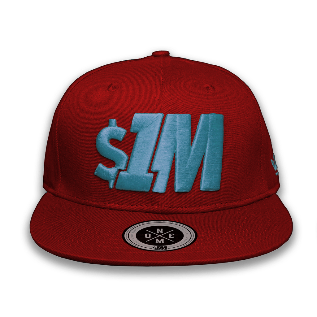Gorra $1M Auténtica Burgundy/Turquoise - 1M Clothing Co.