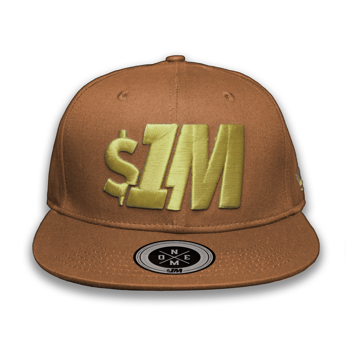 Gorra $1M Auténtica Brown/Gold - 1M Clothing Co.