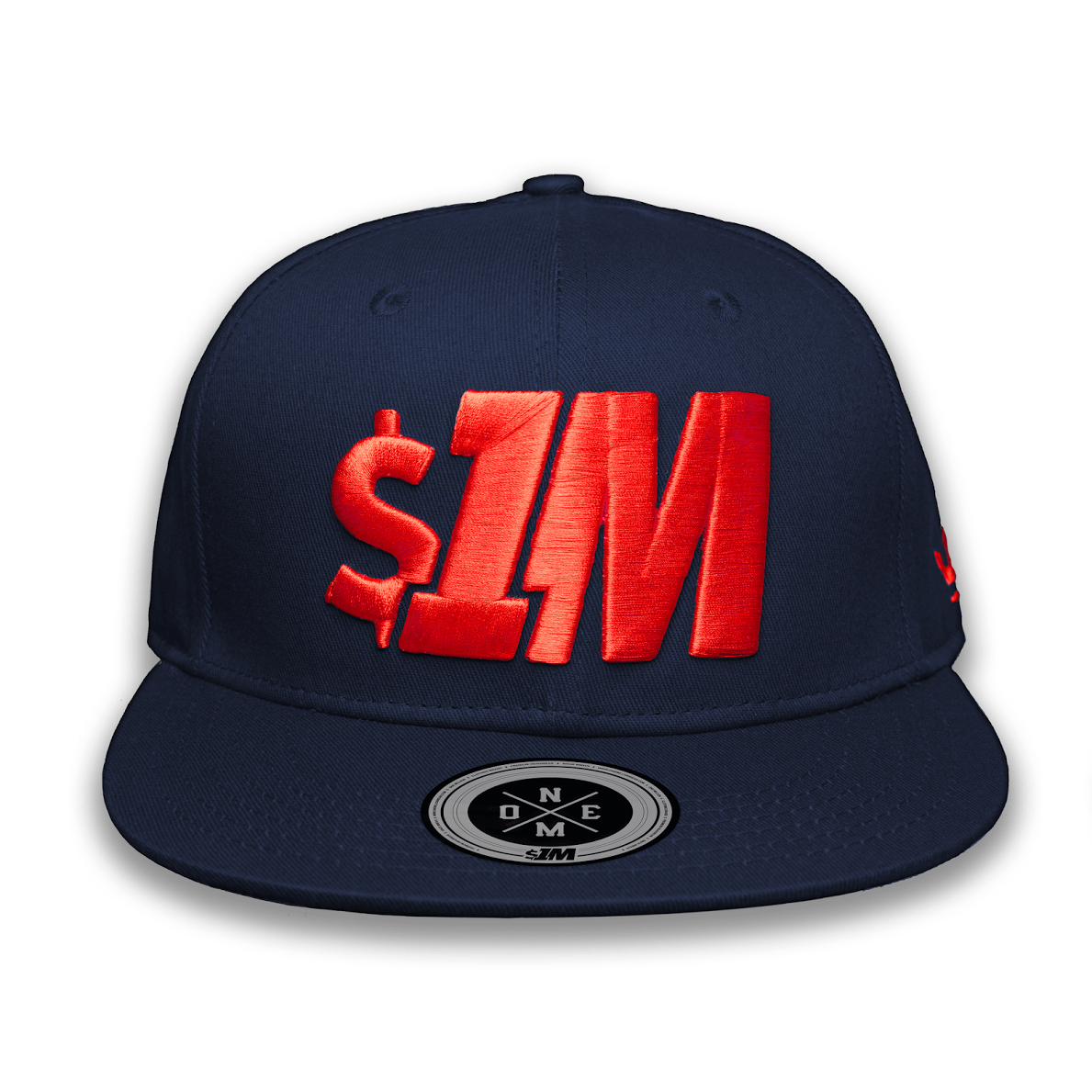 Gorra $1M Auténtica NavyBlue/Red - 1M Clothing Co.