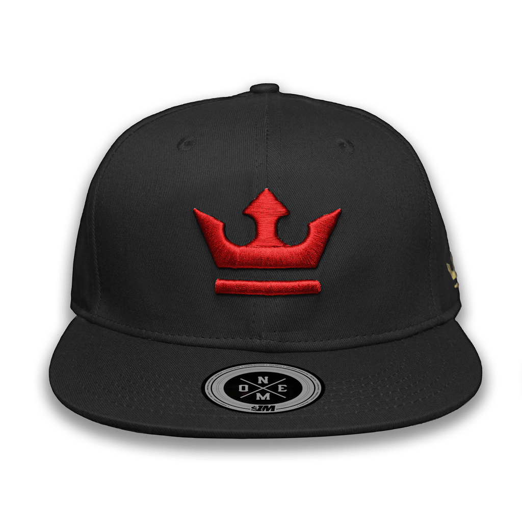 Gorra THE KING Black/Red - 1M Clothing Co.