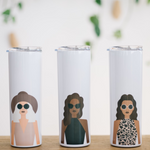 Load image into Gallery viewer, personalized skinny tumblers