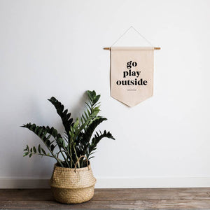 go play outside canvas banner for kids room, play room, nursery