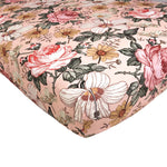 Load image into Gallery viewer, pink floral boho crib sheet for nursery