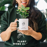 Load image into Gallery viewer, plant mom mug with plant