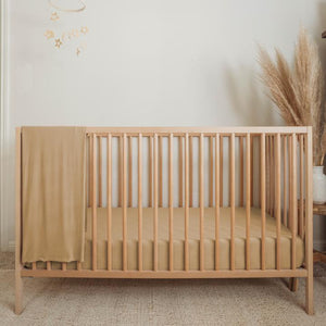 Organic Bamboo Viscose Crib Sheet - Clay