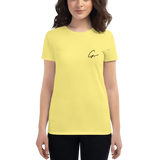 'G' Embroidered Ladies' Fashion Fit T-Shirt