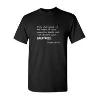 Quote 'Psalm 145:6' Unisex T-Shirt