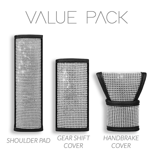 Crystal Car Accessories Cover Set