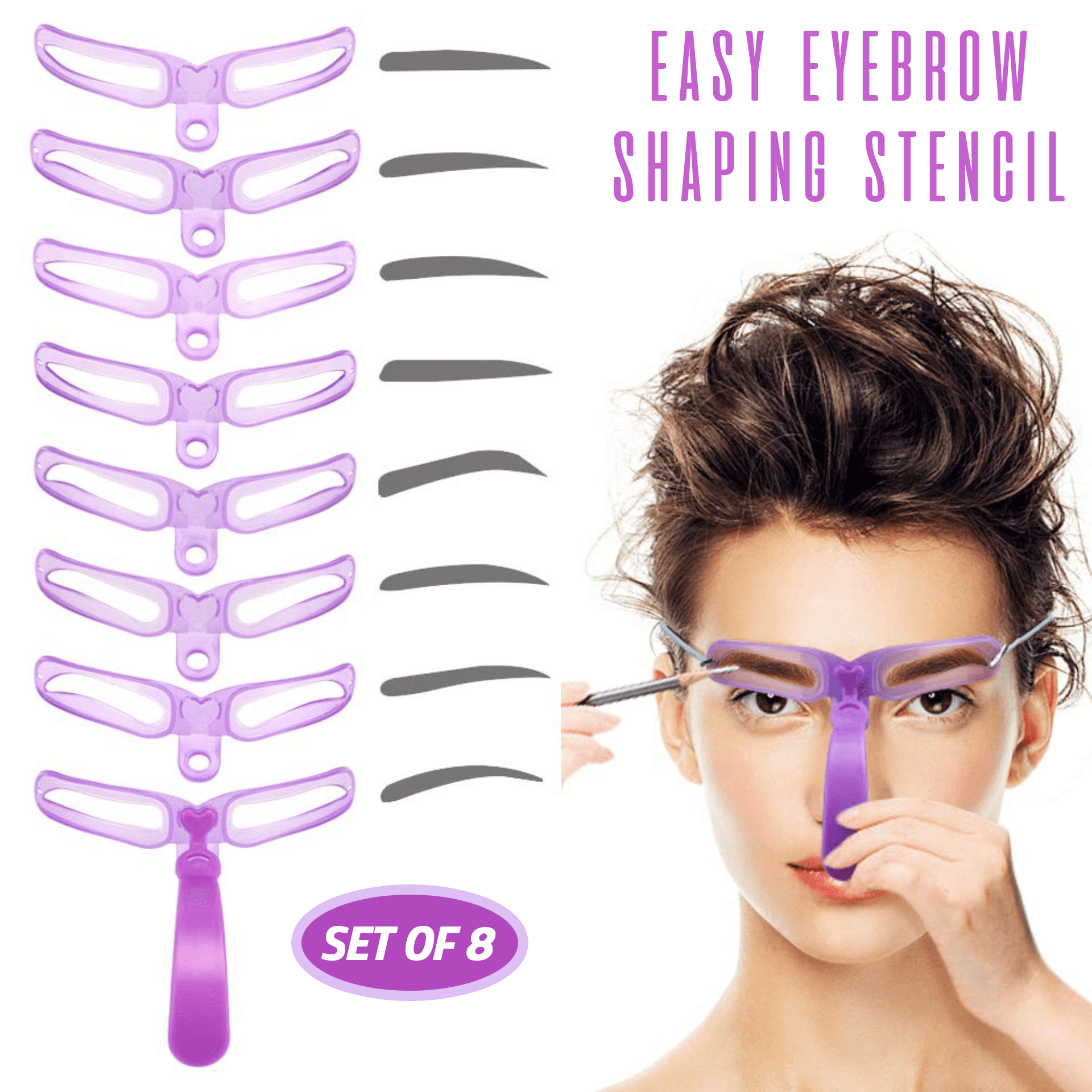 Easy Eyebrow Shaping Stencil (Set of 8)