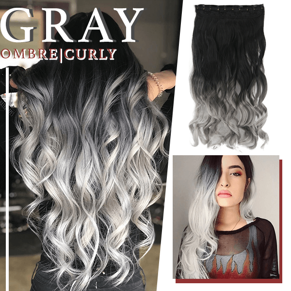 Silver Gray Hair Extension (50% OFF)