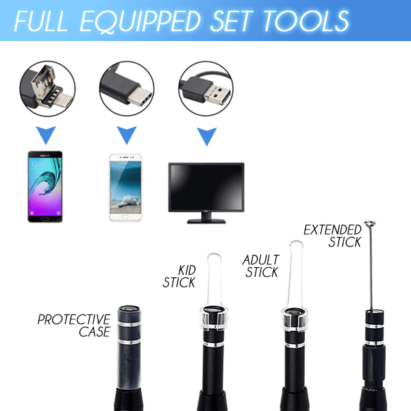 Ear Cleaning Endoscope Set