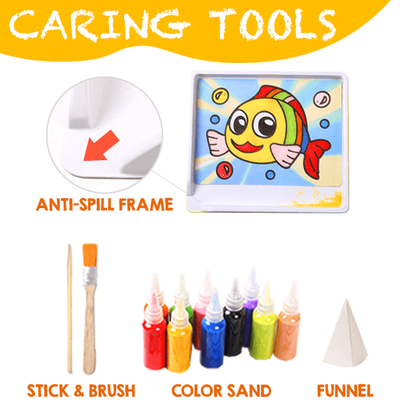 2 In 1 Color Sand Drawing Kit
