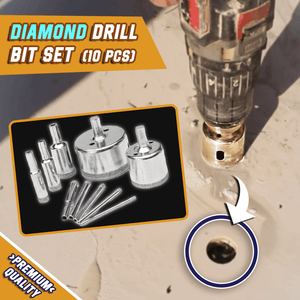 Diamond Drill Bits (Set of 10)