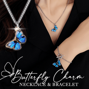 Butterfly Charm Necklace & Bracelet