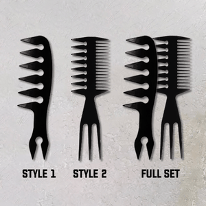 Slicked-Back Professional Styling Comb For Men