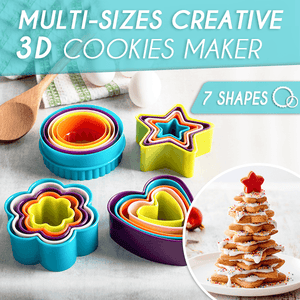 Multi-Sizes Creative 3D Cookies Maker