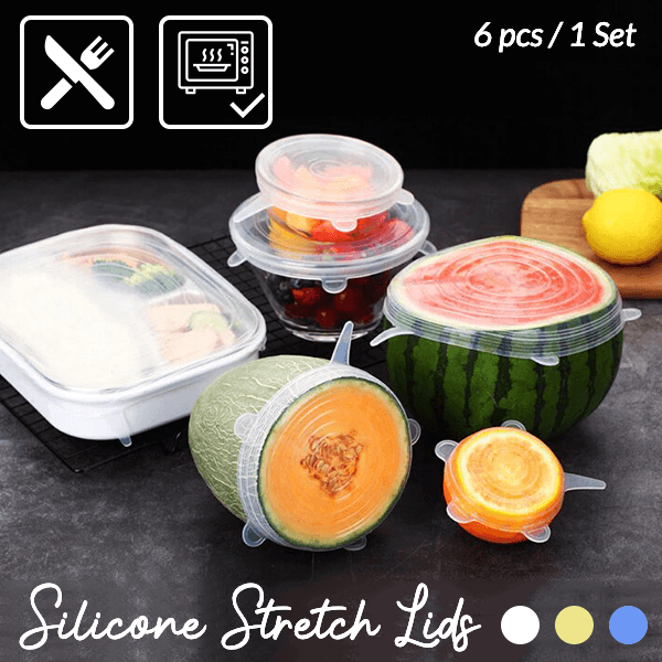 Silicone Stretch Lids (6 pcs / 1 Set)