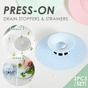 Press-on Drain Stoppers & Strainers (2PCS)