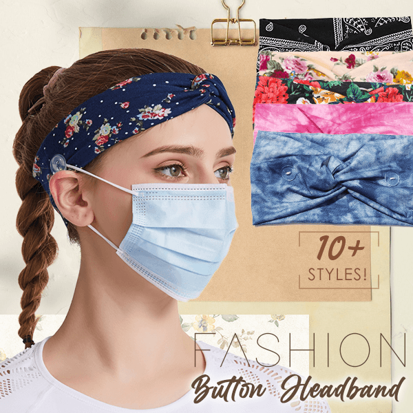 Fashion Button Headbands (Set of 2)