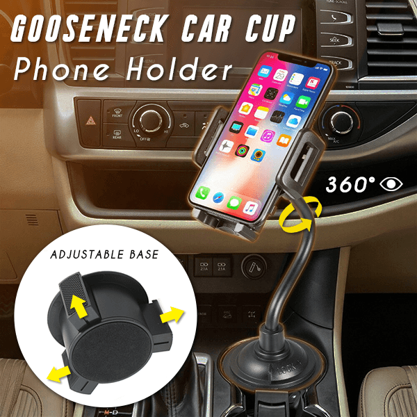 Gooseneck Car Cup Phone Holder