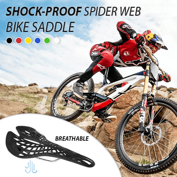 Shock-proof Spider-web Bike Saddle