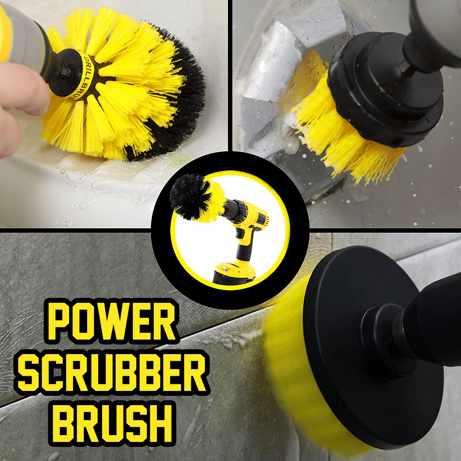Power Scrubber Brush (Set of 3) - esfranki