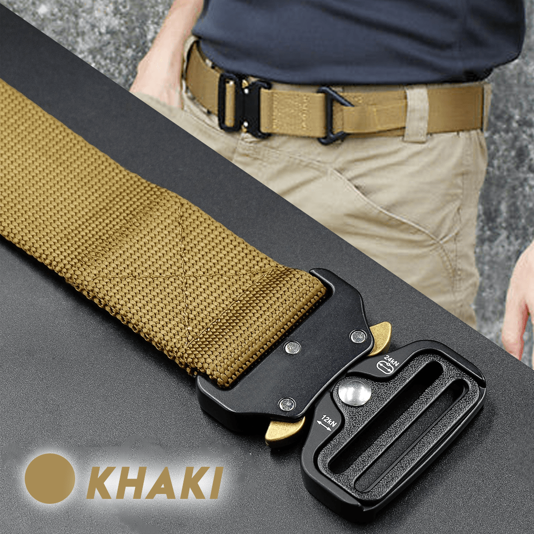 Military Style Tactical Canvas Belt