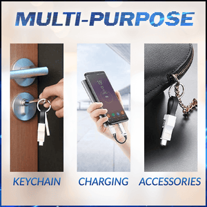 3-in-1 Mini Keychain Charging Cable