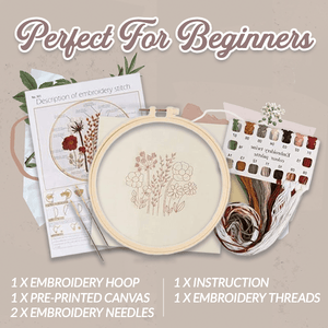 Floral Embroidery Beginner Kit