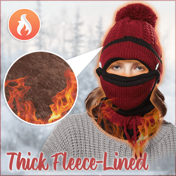 Thermal Knitted Beanie Set