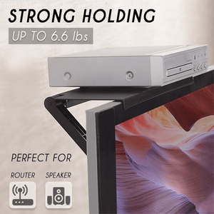Adjustable Screen-Top Storage Rack