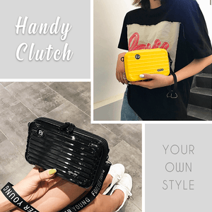Stylish Mini Suitcase Crossbody Clutch