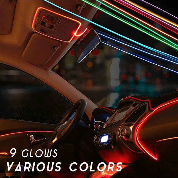 Flash-Install Neon Car Decor Stripe