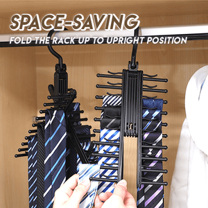 360° Rotating Cross Shaped Tie Hanger