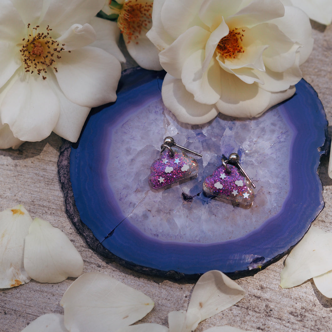 Purple Daze Cloud Studs