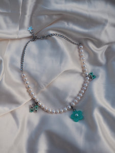 Minted Pearl Necklace