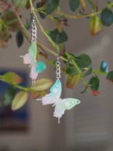 Load image into Gallery viewer, Custom Butterfly Chain Earrings
