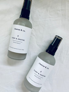 Cleanse & co sleep & soothe mist.