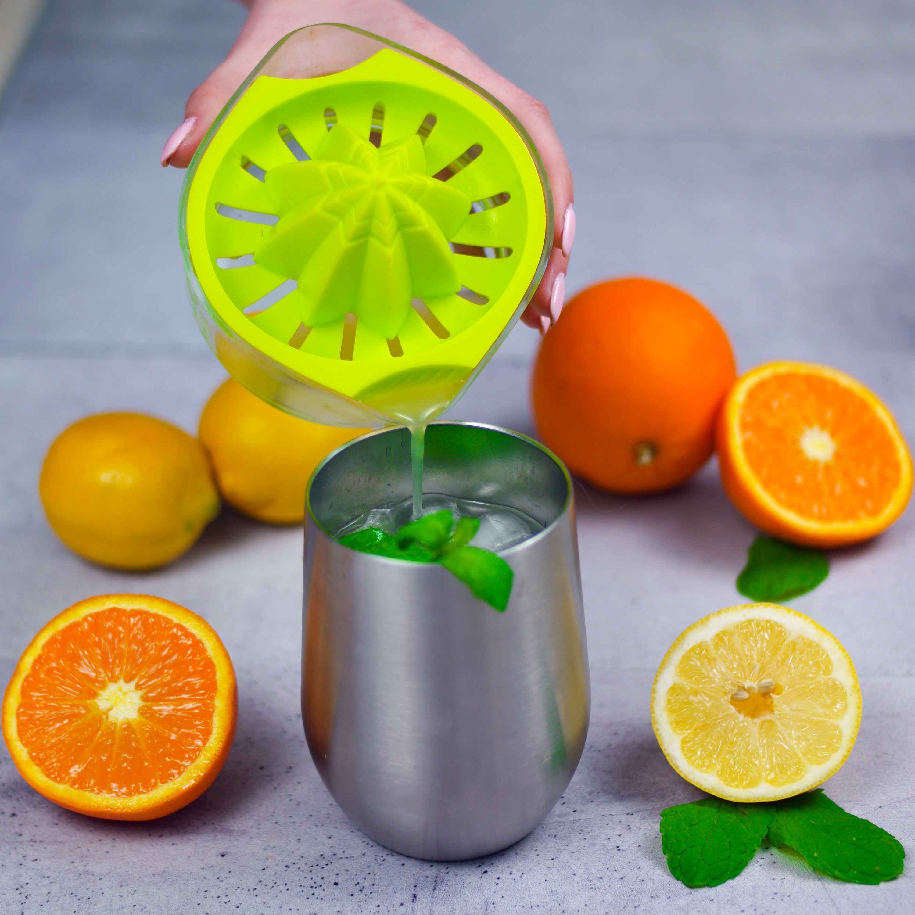 8 oz. Hand Lemon Juicer  (with ARK Reamer for Maximum Extraction) Top Rated Premium Design - EZ Citrus Juicer