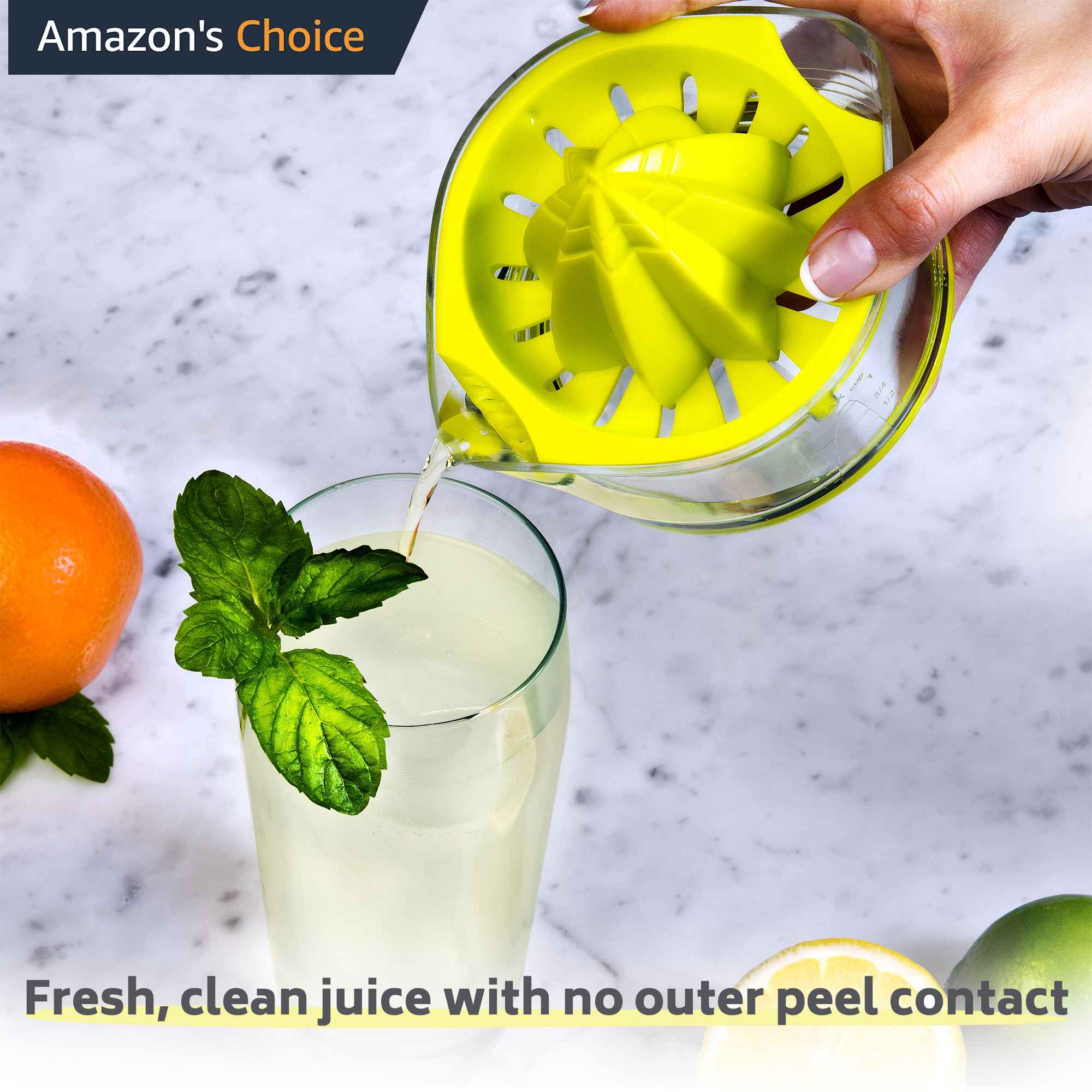 ez citrus juicer - ultra efficient lemon juicer, easy manual lemon squeezer juicer hand held