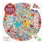 eeBoo Blue Bird Yellow Bird - 500 Piece Round