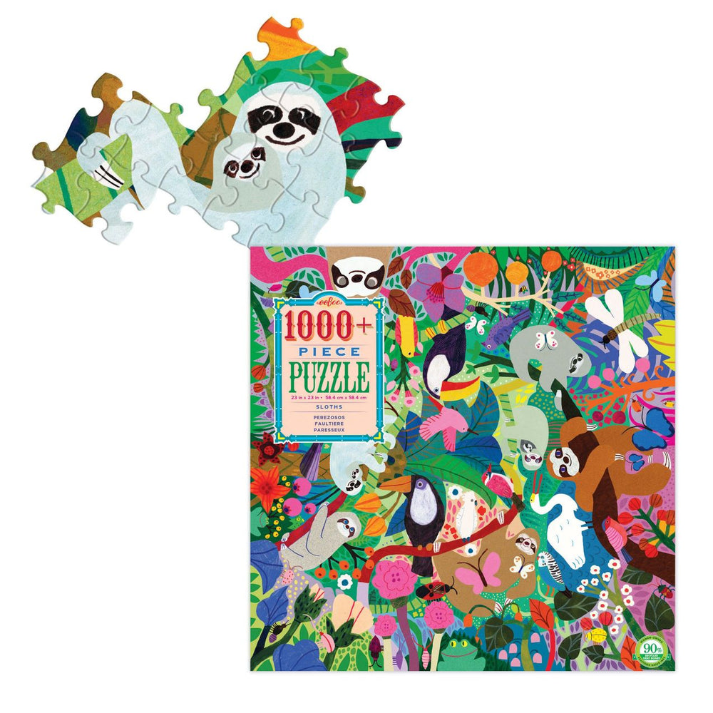 eeBoo Sloths - 1000 Piece